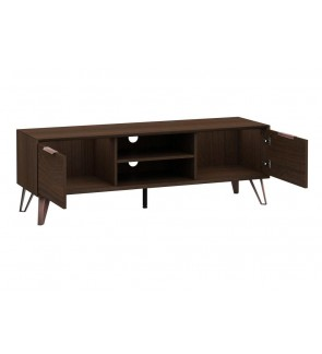 Detrend -Zelda 7334-288 Modern TV Stand & Entertainment Cabinet Suitable For 4 feets- (Walnut)