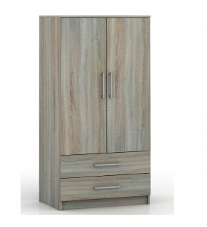 DéTrend- 2Door Wardrobe with Cabinet - 6006 - Great Design for Bedroom - Affordable Prices !!