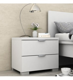 DéTrend - Alexia 2 Drawer Bedside Table - 8146 -Beside Table- Bedroom