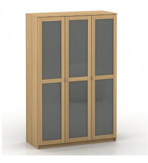 DéTrend -3 Doors Wardrobe - Model 6051 - Assembled size - UV High Gloss front door - Spacious - Grea