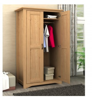 DéTrend - Mathilda 2Door Engineered Particle Wooden Wardrobe - Contemporary Design - Spacious & Grea