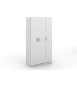 DéTrend  - 3 Doors Engineered Particle Wooden Wardrobe 6030 - Simple Design -Spacious - Affordable -