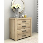 DéTrend - Chest Of 4 Drawer - Easy Flip Dual Color Top - Fashionable - Spacious - 5155 -