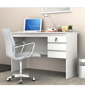 WORKSPACE SOHO 3 DRAWER STUDENT DESK - WHITE