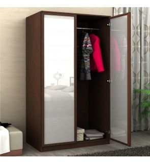 DéTrend - Rovina 2 Doors Engineered Particle Wooden Wardrobe - with hanger Rod - Great 2 Tone design - Easy to Assemble - SPECIAL PRICE !!