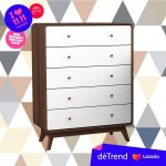 Detrend- 5260 Kianna Tall Chest Drawer - Bedroom- Chest Drawer- Wardrobe